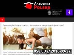 Miniaturka www.akademiapolska.pl (Kursy, szkolenia, warsztaty i zaświadczenia MEN)