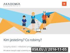 Miniaturka domeny www.akademiaprogramowania.pl