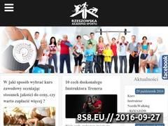 Miniaturka www.akademiarzeszow.pl (Szkolenia, kursy oraz warsztaty)