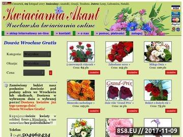 Zrzut strony Kwiaciarnia Wrocław