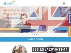 Miniaturka www.akcent-poznan.com.pl (Kursy językowe, kursy dla firm, obozy językowe)