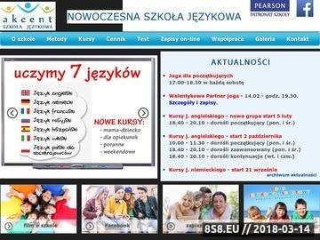 Zrzut strony Akcent - szkoła językowa w Elblągu
