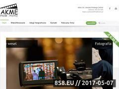 Miniaturka domeny www.akme-filmowanie.pl