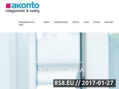 Miniaturka domeny www.akonto.com.pl