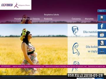 Zrzut strony Szkoła rodzenia, ćwiczenia w ciąży, USG Lublin