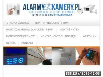 Zrzut strony Montaż alarmów Warszawa