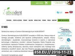 Miniaturka domeny albusdent.pl