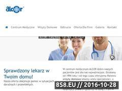 Miniaturka domeny www.alcor.lekarzdodomu.pl