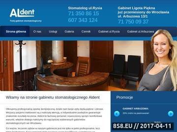 Zrzut strony Dobry dentysta - Wrocław - Aldent - licówki, protetyka, wybielanie zębów