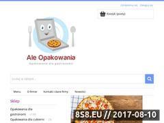 Miniaturka aleopakowania.pl (Sklep z pudełkami na pizzę)