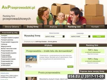 Zrzut strony Usługi transportowe, przeprowadzki Kraków, Rzeszów, Katowice