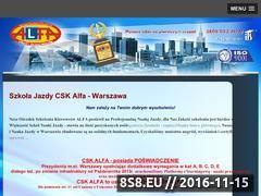 Miniaturka www.alfa.info.pl (Kursy na prawo jazdy)
