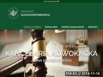 Zrzut strony Kancelaria adwokacka