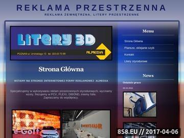 Zrzut strony Litery przestrzenne, cięcie styroduru - Poznań