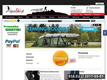 Zrzut strony Sklep Turystyczny ALPENSKI.PL Sprzęt i odzież turystyczna
