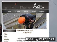 Miniaturka alpinmatic.eu (Prace wysokościowe Poznań)