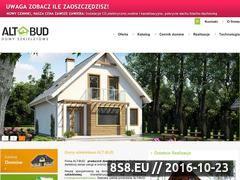 Miniaturka domeny www.altbud-domy.pl