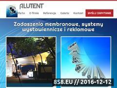 Miniaturka domeny www.alu-tent.pl
