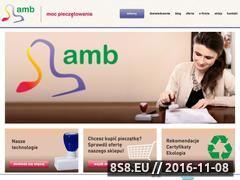 Miniaturka amb.net.pl (Pieczątki, stemple i wizytówki)