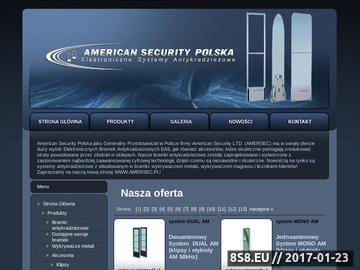 Zrzut strony Bramki antykradzieżowe - American Security Polska