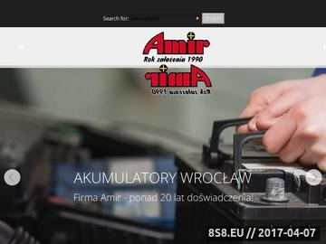 Zrzut strony Amir - producent i dystrybutor akumulatorów