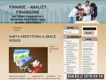 Zrzut strony Analiza finansowa
