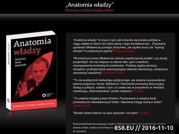 Zrzut strony Eryk Mistewicz, Michał Karnowski: ANATOMIA WŁADZY