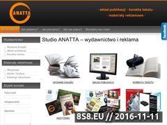 Miniaturka anatta.pl (Materiały reklamowe oraz korekta i skład tekstu)