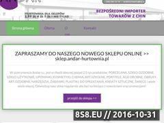 Miniaturka domeny www.andar-hurtownia.pl