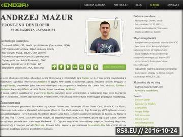 Zrzut strony Andrzej Mazur