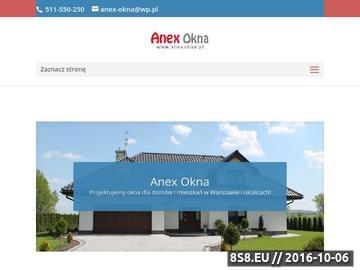Zrzut strony Anex Okna Pruszków