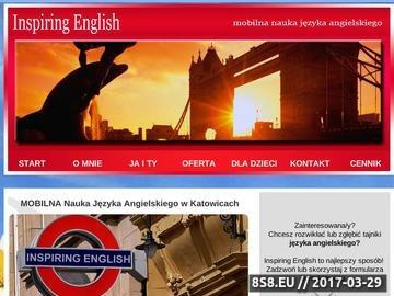 Zrzut strony Nauka języka angielskiego Katowice. Korepetycje, egzaminy, konwersacje.