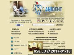 Miniaturka domeny www.anident.pl