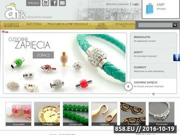 Zrzut strony Anik&Aygo hurtownia biżuterii sztucznej
