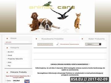 Zrzut strony Animal Care - karmy dla psa i kota