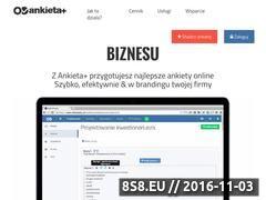 Miniaturka domeny www.ankietaplus.pl