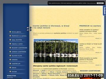 Zrzut strony Czarter jachtów na ciepłych morzach: Chorwacja, Grecja, cały świat