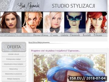 Zrzut strony Studio Stylizacji: tipsy, makijaż, stylizacja paznokci, korekcja wrastających paznokci.