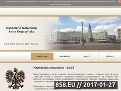 Miniaturka domeny annakopczynska.notariusz.pl