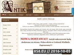 Miniaturka www.antik.com.pl (Sklep internetowy z antykami)