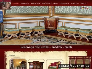 Zrzut strony Renowacja antyków i produkcja mebli według mistrzów meblarstwa.
