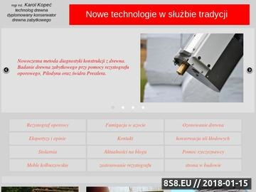 Zrzut strony Nowoczesne technologie w służbie konserwacji zabytków.