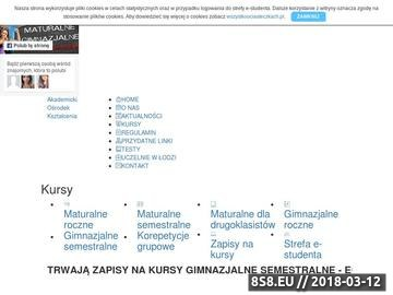 Zrzut strony Kursy maturalne Łódź