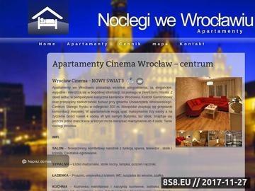 Zrzut strony Apartamenty Cinema Wrocław - apartamentycinema.pl