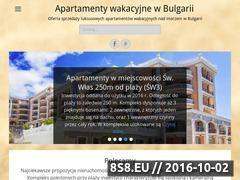 Miniaturka apartamentywakacyjnewbulgarii.pl (Sprzedaż apartamentów nad morzem w Bugłrgarii)
