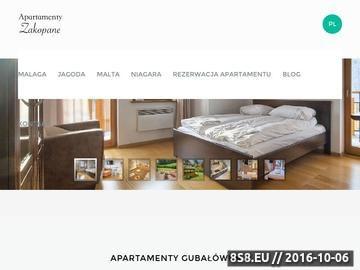 Zrzut strony Apartamenty Gubałówka 2