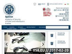 Miniaturka www.apeiron.edu.pl (Szkoła Apeiron)