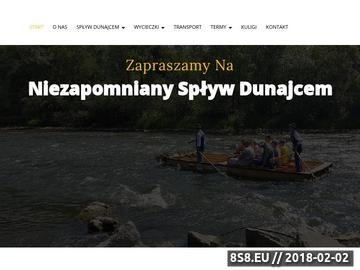 Zrzut strony Spływ Dunajcem