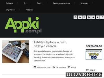 Zrzut strony Strona o aplikacjach mobilnych