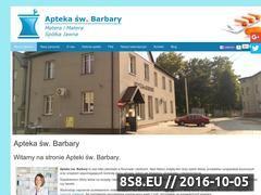 Miniaturka www.aptekaswbarbary.pl (Apteka Knurów to artykuły higieniczne Knurów)